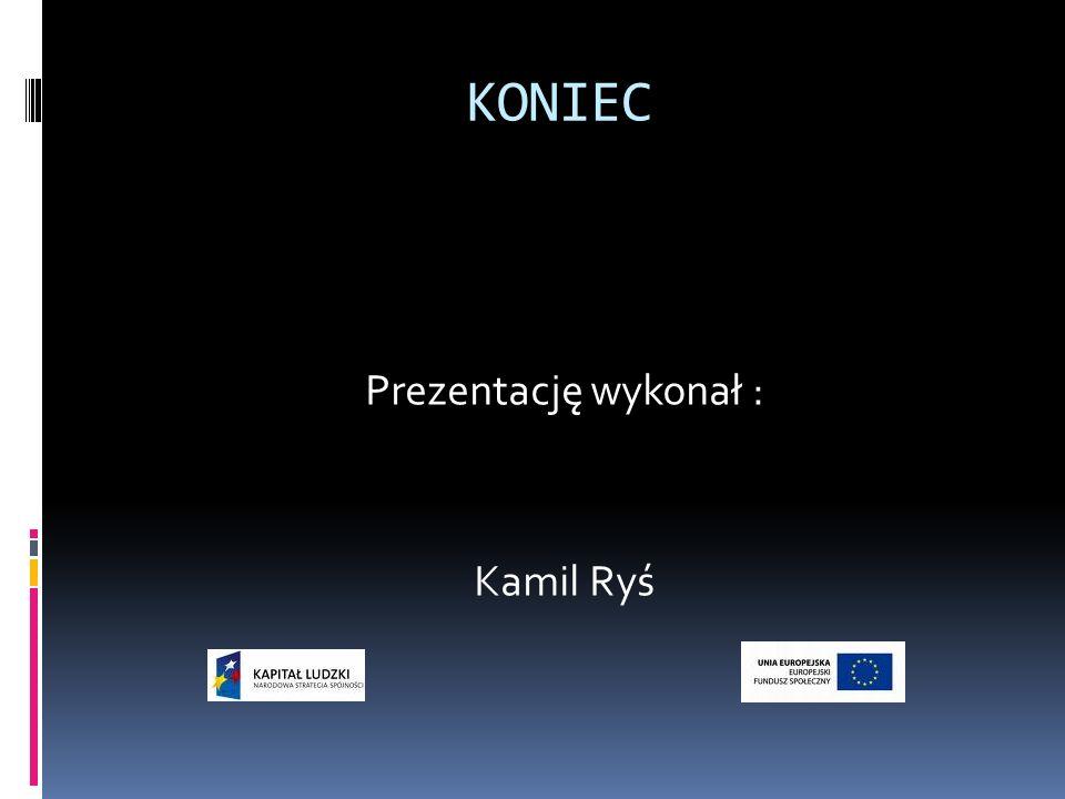 KONIEC Prezentację wykonał : Kamil Ryś