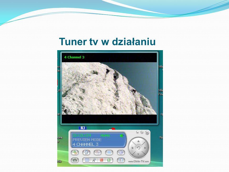 Tuner tv w działaniu