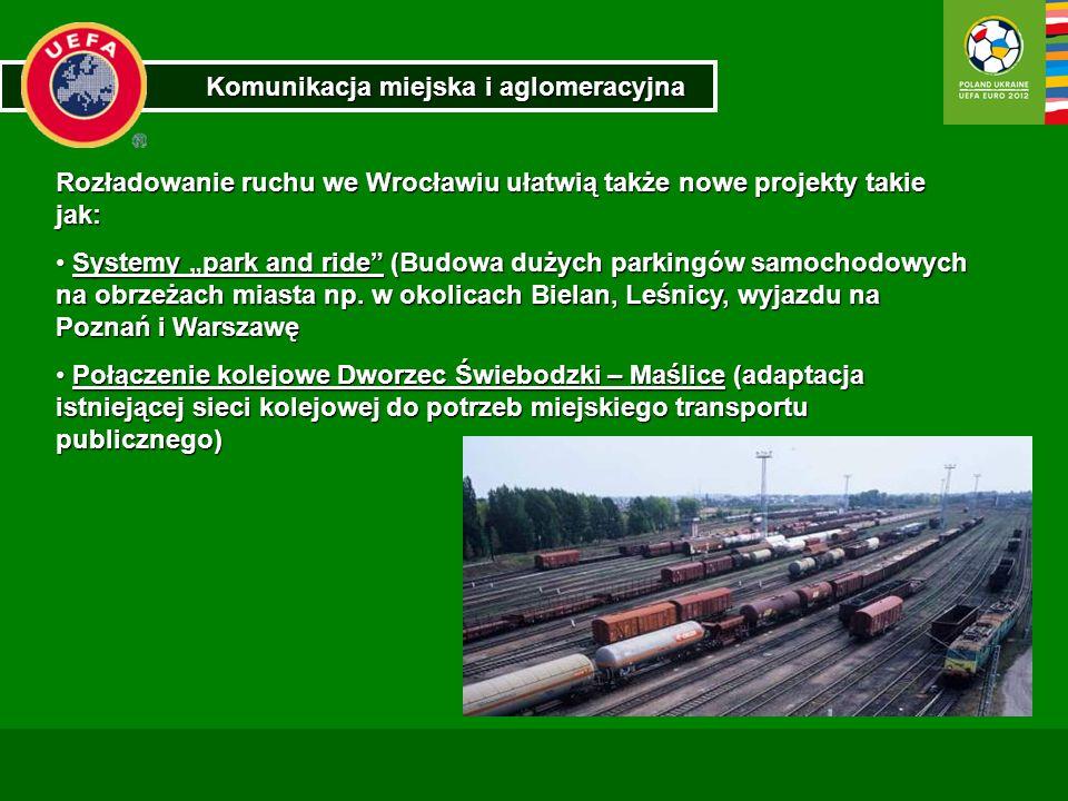 Komunikacja miejska i aglomeracyjna Rozładowanie ruchu we Wrocławiu ułatwią także nowe projekty takie jak: Systemy park and ride (Budowa dużych parkin