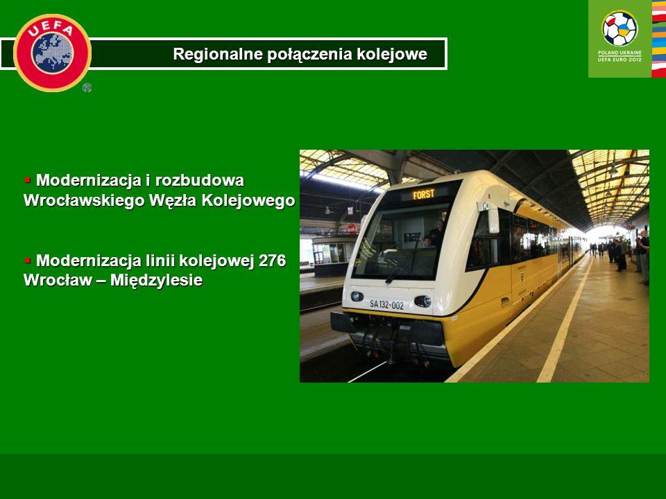 Regionalne połączenia kolejowe Modernizacja i rozbudowa Wrocławskiego Węzła Kolejowego Modernizacja i rozbudowa Wrocławskiego Węzła Kolejowego Moderni