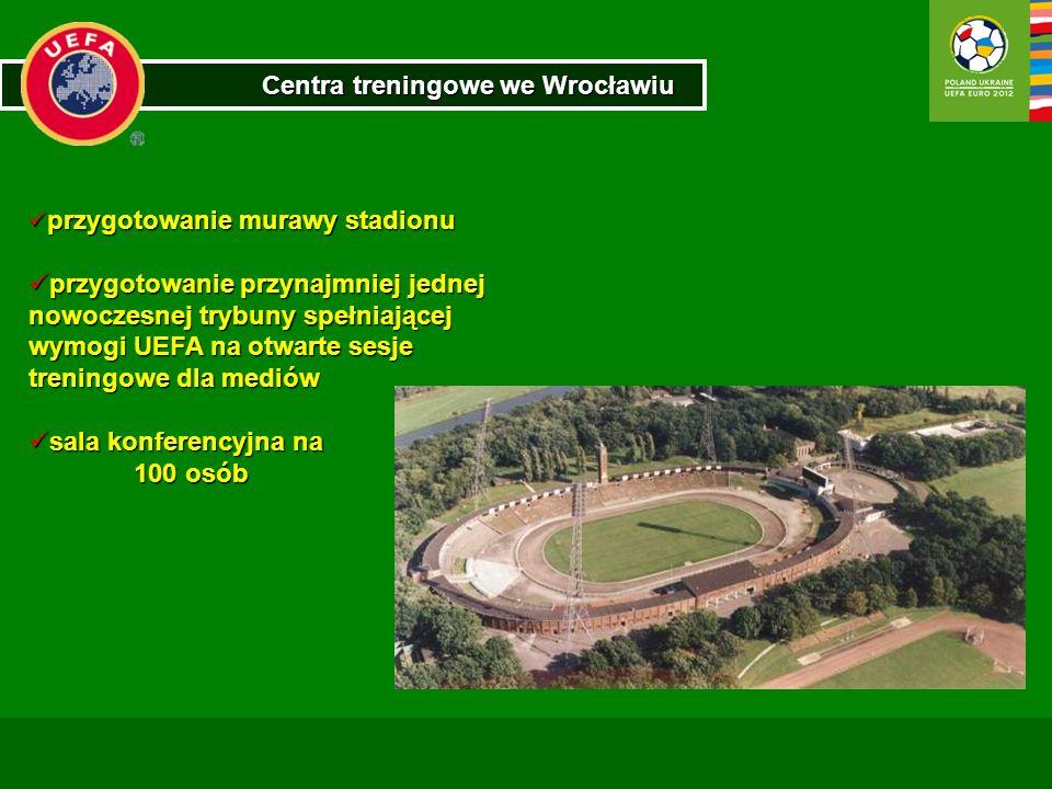 Centra treningowe we Wrocławiu przygotowanie murawy stadionu przygotowanie murawy stadionu przygotowanie przynajmniej jednej nowoczesnej trybuny spełn