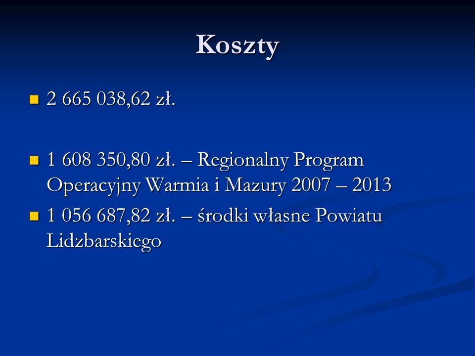 Koszty 2 665 038,62 zł.2 665 038,62 zł. 1 608 350,80 zł.