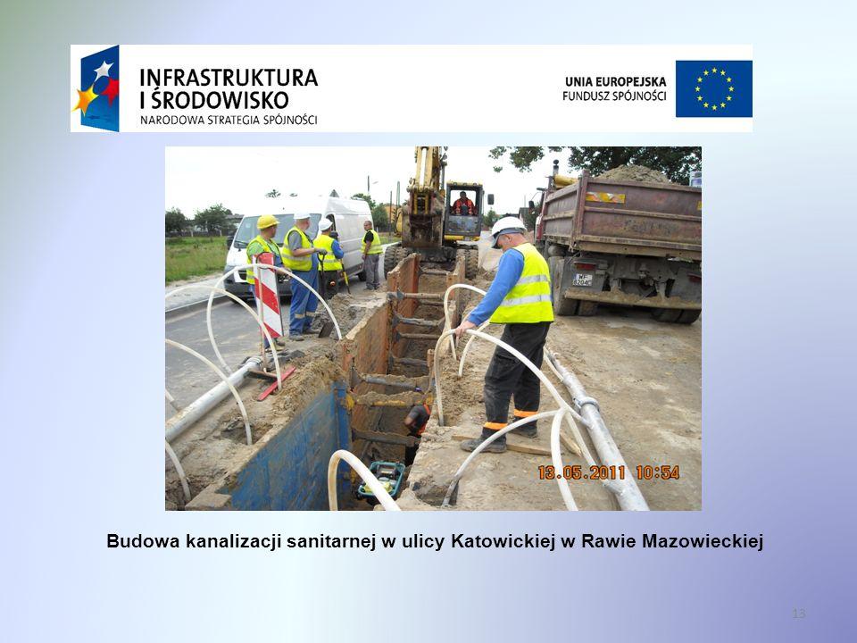 13 Budowa kanalizacji sanitarnej w ulicy Katowickiej w Rawie Mazowieckiej