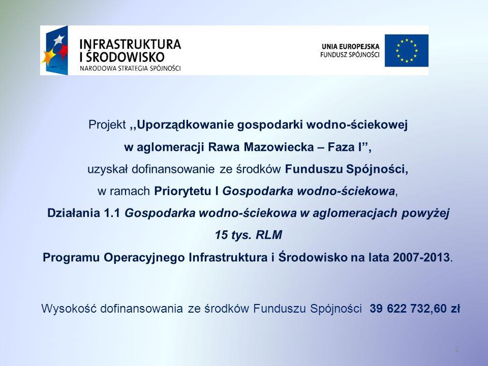 2 Wysokość dofinansowania ze środków Funduszu Spójności 39 622 732,60 zł