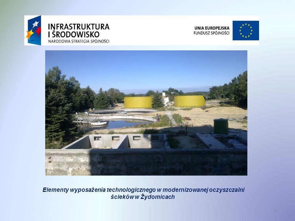 Modernizacja oczyszczalni ścieków Elementy wyposażenia technologicznego w modernizowanej oczyszczalni ścieków w Żydomicach 9