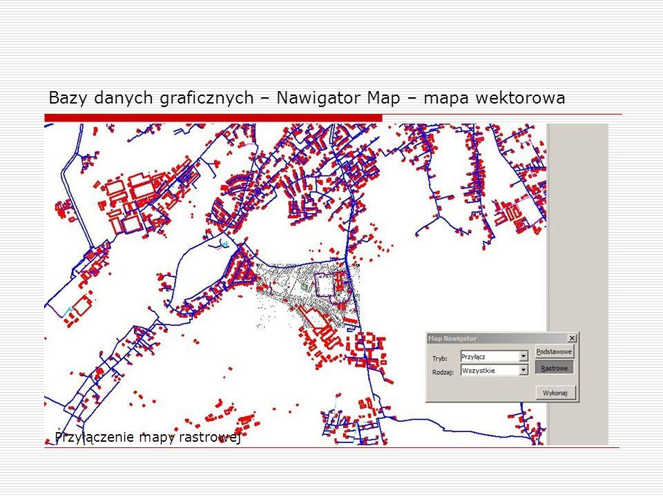 Bazy danych graficznych – Nawigator Map – mapa wektorowa Przyłączenie mapy rastrowej