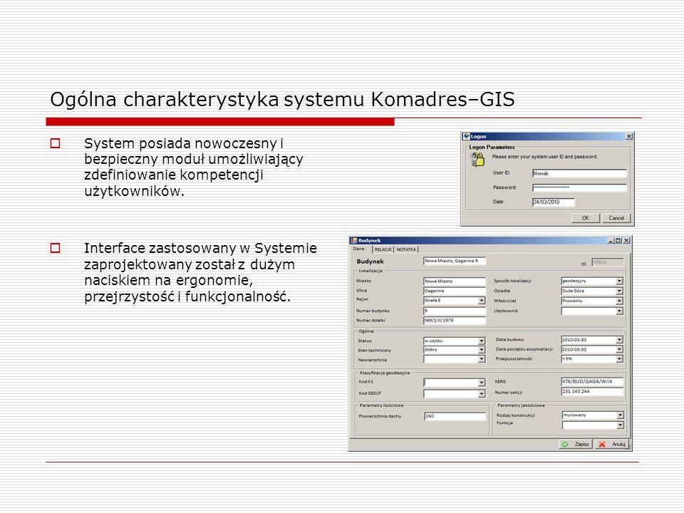 System posiada nowoczesny i bezpieczny moduł umożliwiający zdefiniowanie kompetencji użytkowników. Interface zastosowany w Systemie zaprojektowany zos
