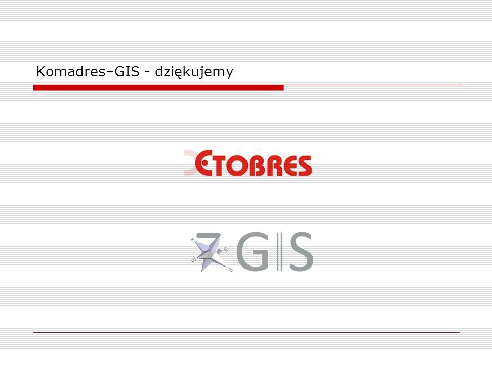 Komadres–GIS - dziękujemy