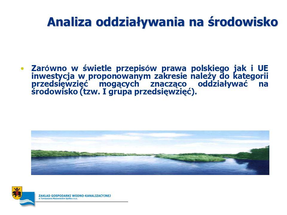 Analiza oddziaływania na środowisko Zar ó wno w świetle przepis ó w prawa polskiego jak i UE inwestycja w proponowanym zakresie należy do kategorii pr