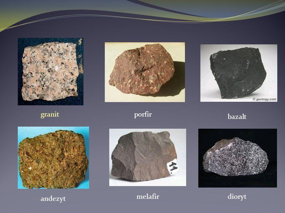 granitporfir bazalt andezyt melafirdioryt