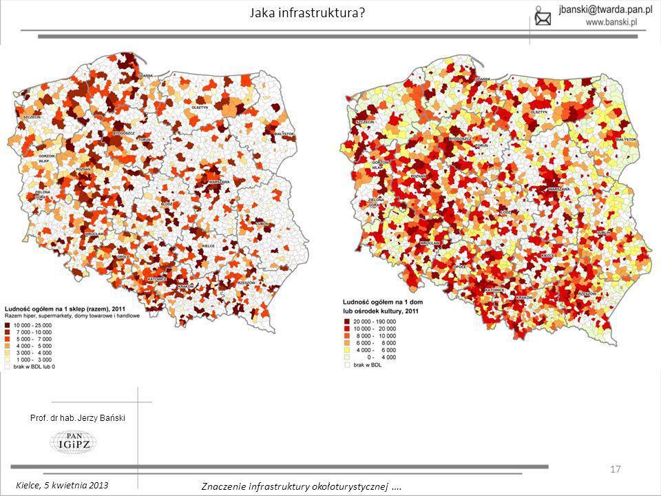 17 Znaczenie infrastruktury okołoturystycznej …. Jaka infrastruktura? Prof. dr hab. Jerzy Bański Kielce, 5 kwietnia 2013
