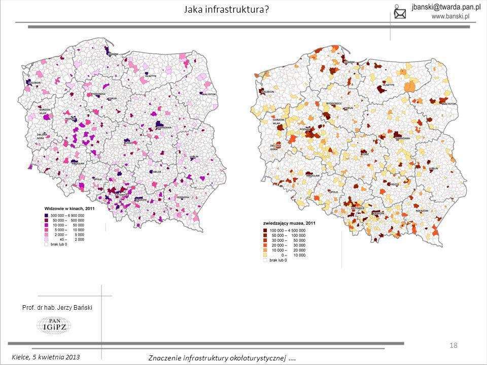 18 Znaczenie infrastruktury okołoturystycznej …. Jaka infrastruktura? Prof. dr hab. Jerzy Bański Kielce, 5 kwietnia 2013