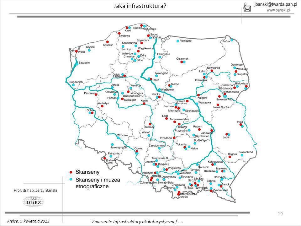 19 Znaczenie infrastruktury okołoturystycznej …. Jaka infrastruktura? Prof. dr hab. Jerzy Bański Kielce, 5 kwietnia 2013