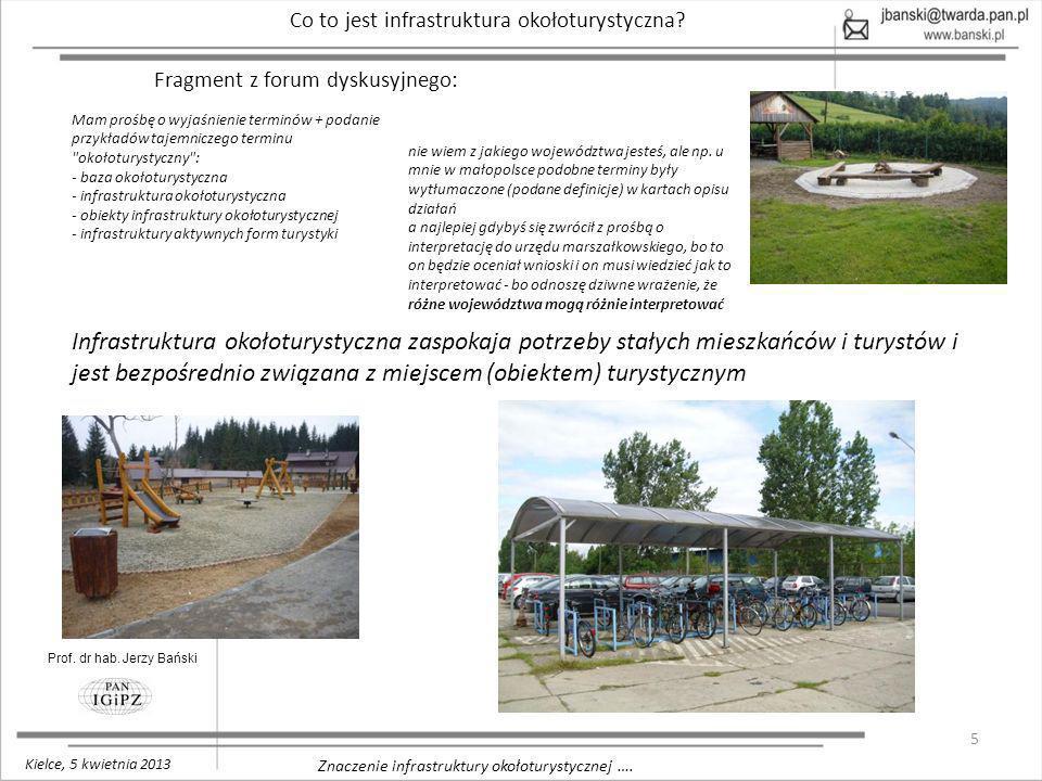 16 Znaczenie infrastruktury okołoturystycznej ….