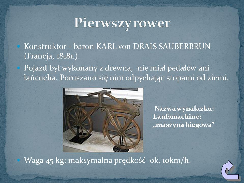 W 1943 r. Leonardo da Vinci miał wizję wehikułu, wyraźnie przypominającego rower. Pojazd ten miał dwa równej wielkości koła ze szprychami, kierownicę,