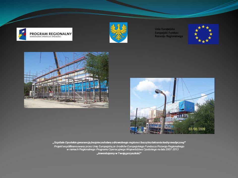 Szpitale Opolskie gwarancją bezpieczeństwa zdrowotnego regionu i bazą kształcenia kadry medycznej Projekt współfinansowany przez Unię Europejską ze środków Europejskiego Funduszu Rozwoju Regionalnego w ramach Regionalnego Programu Operacyjnego Województwa Opolskiego na lata 2007-2013 inwestujemy w Twoją przyszłość Unia Europejska Europejski Fundusz Rozwoju Regionalnego