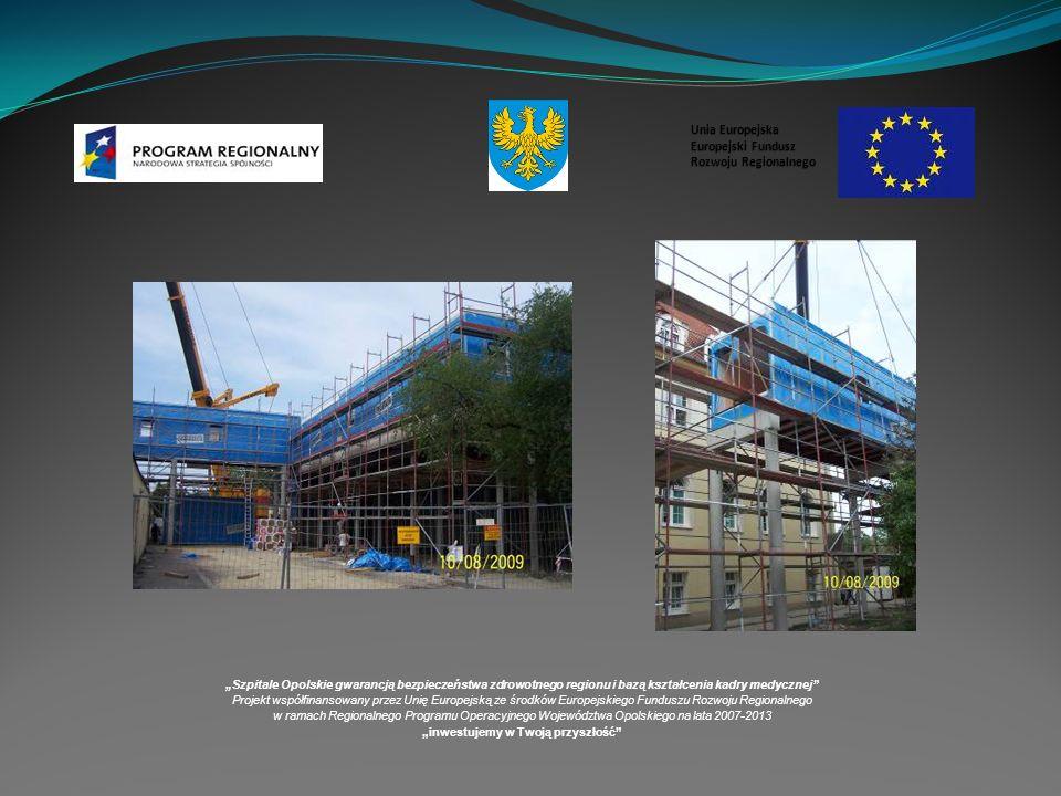 Szpitale Opolskie gwarancją bezpieczeństwa zdrowotnego regionu i bazą kształcenia kadry medycznej Projekt współfinansowany przez Unię Europejską ze środków Europejskiego Funduszu Rozwoju Regionalnego w ramach Regionalnego Programu Operacyjnego Województwa Opolskiego na lata 2007-2013 inwestujemy w Twoją przyszłość