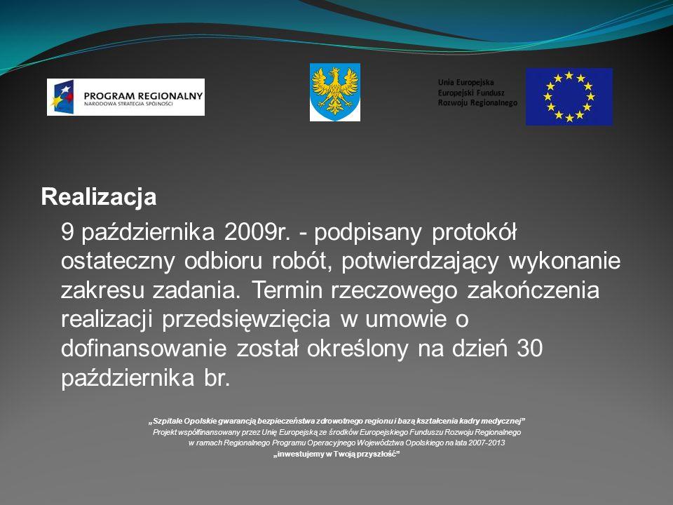 Realizacja 9 października 2009r.