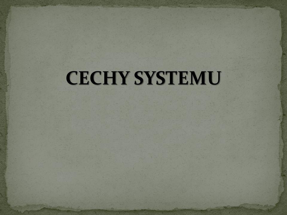CECHY SYSTEMU