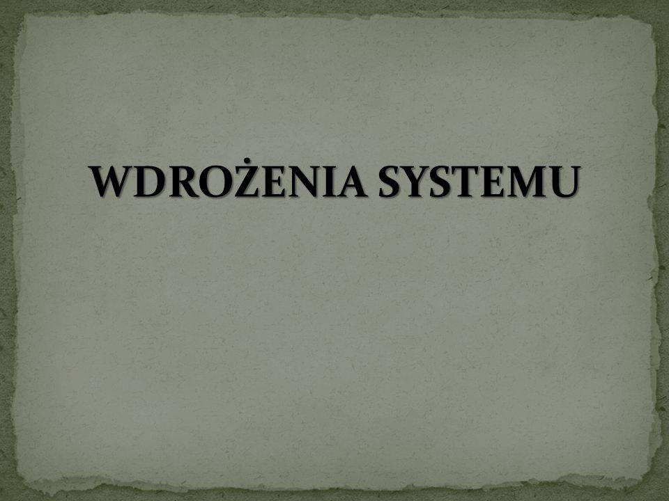 WDROŻENIA SYSTEMU