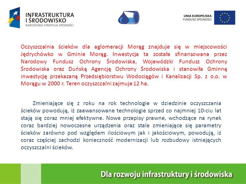 Oczyszczalnia ścieków dla aglomeracji Morąg znajduje się w miejscowości Jędrychówko w Gminie Morąg. Inwestycja ta została sfinansowana przez Narodowy