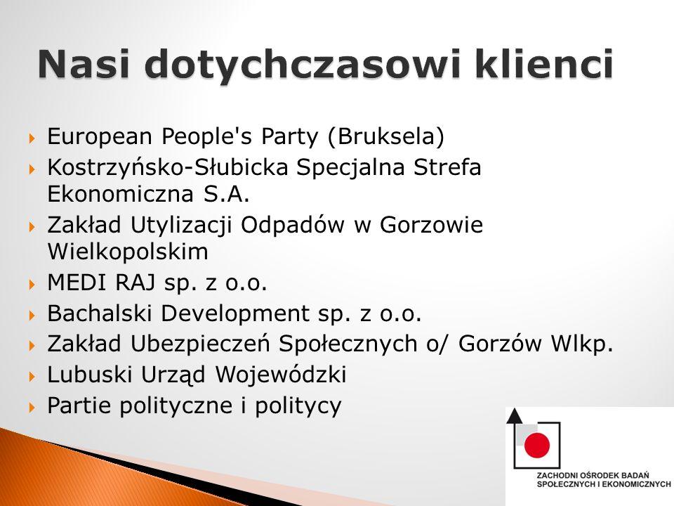 European People s Party (Bruksela) Kostrzyńsko-Słubicka Specjalna Strefa Ekonomiczna S.A.
