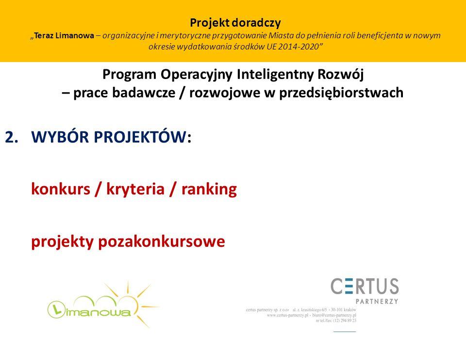 Projekt doradczy Teraz Limanowa – organizacyjne i merytoryczne przygotowanie Miasta do pełnienia roli beneficjenta w nowym okresie wydatkowania środkó