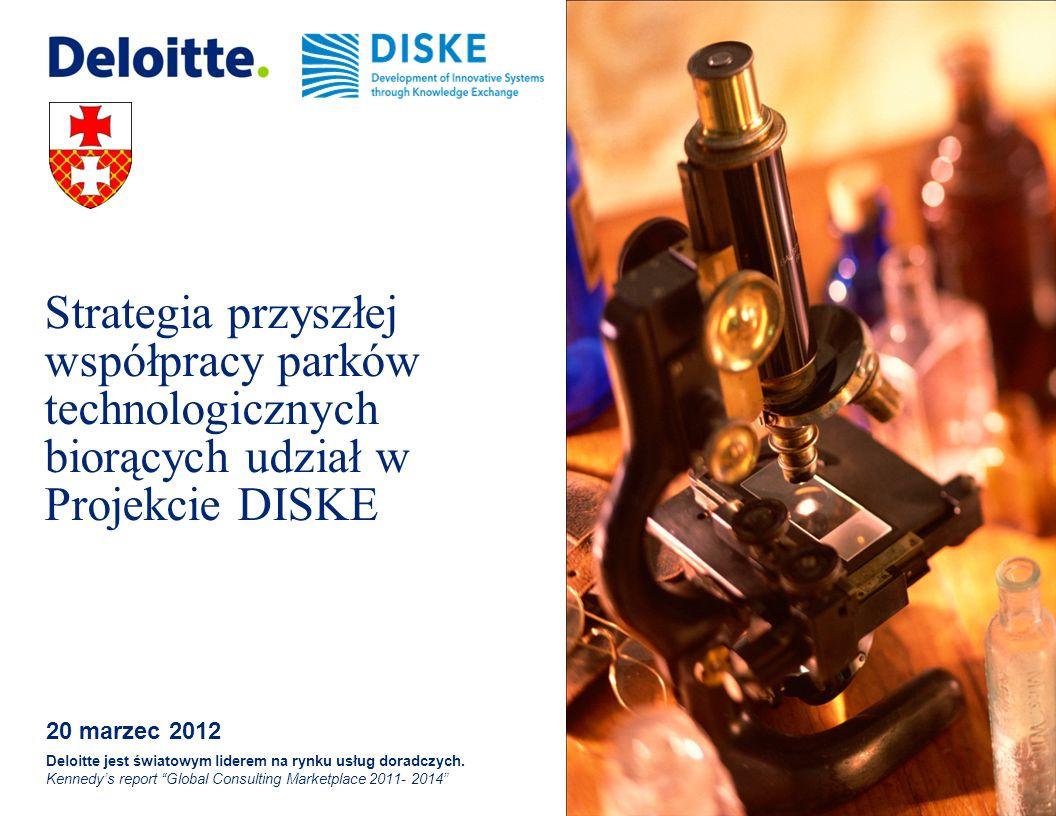 © 2012 Deloitte Założenia współpracy parków technologicznych