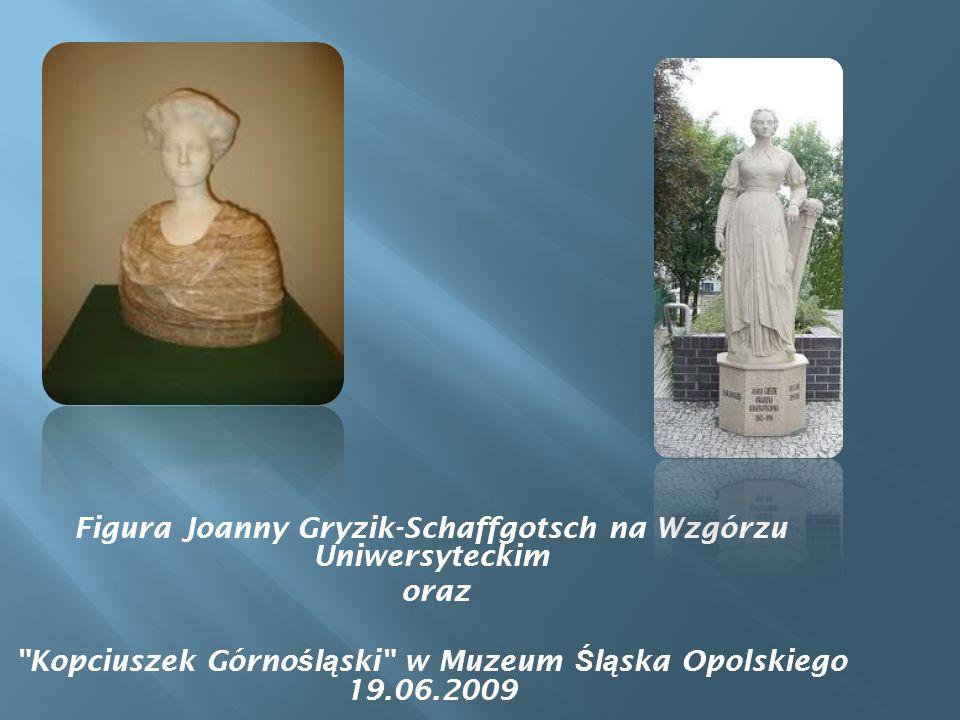 Figura Joanny Gryzik-Schaffgotsch na Wzgórzu Uniwersyteckim oraz