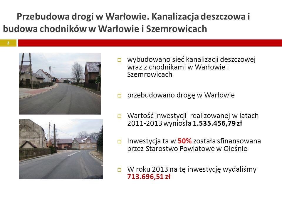 Przebudowa drogi w Warłowie.