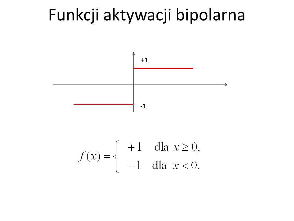 +1 Funkcji aktywacji bipolarna