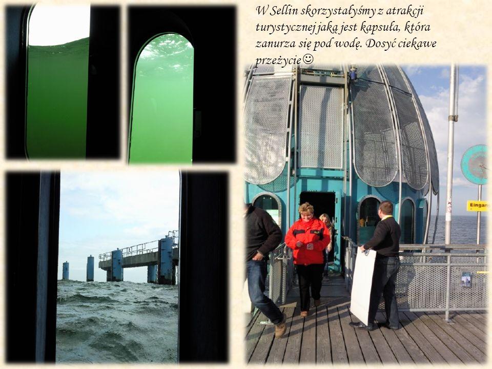 W Sellin skorzystałyśmy z atrakcji turystycznej jaką jest kapsuła, która zanurza się pod wodę.