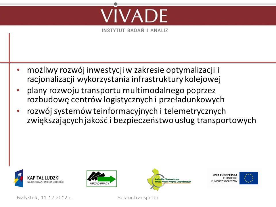możliwy rozwój inwestycji w zakresie optymalizacji i racjonalizacji wykorzystania infrastruktury kolejowej plany rozwoju transportu multimodalnego pop