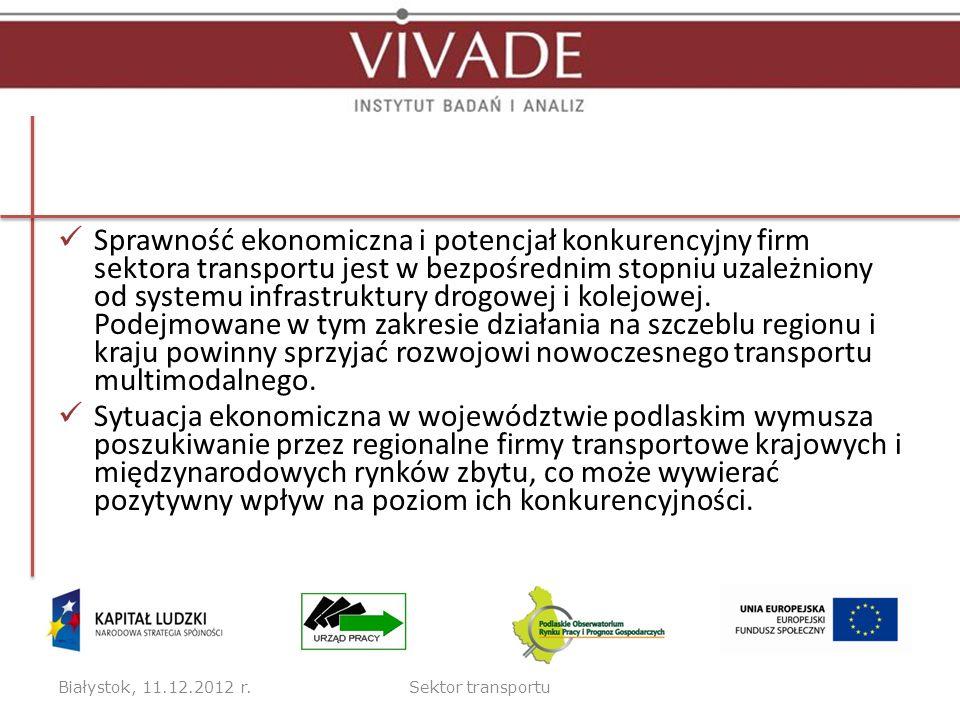 Sprawność ekonomiczna i potencjał konkurencyjny firm sektora transportu jest w bezpośrednim stopniu uzależniony od systemu infrastruktury drogowej i k