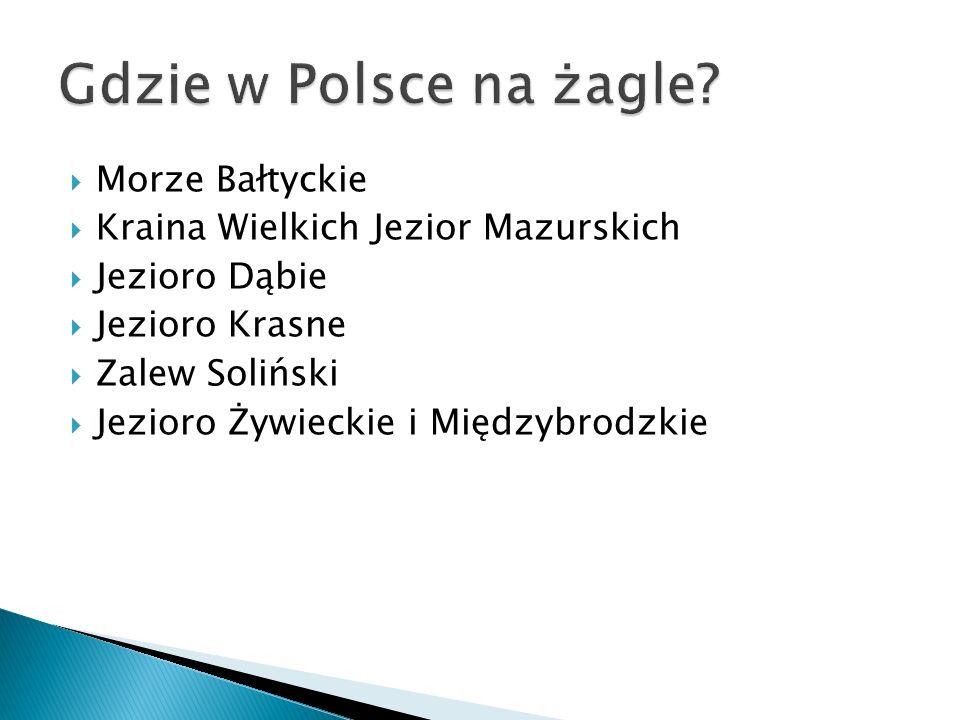 Morze Bałtyckie Kraina Wielkich Jezior Mazurskich Jezioro Dąbie Jezioro Krasne Zalew Soliński Jezioro Żywieckie i Międzybrodzkie
