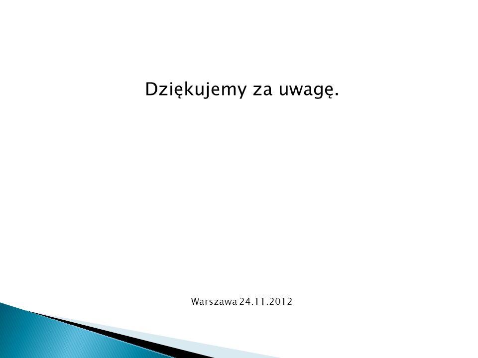 Dziękujemy za uwagę. Warszawa 24.11.2012