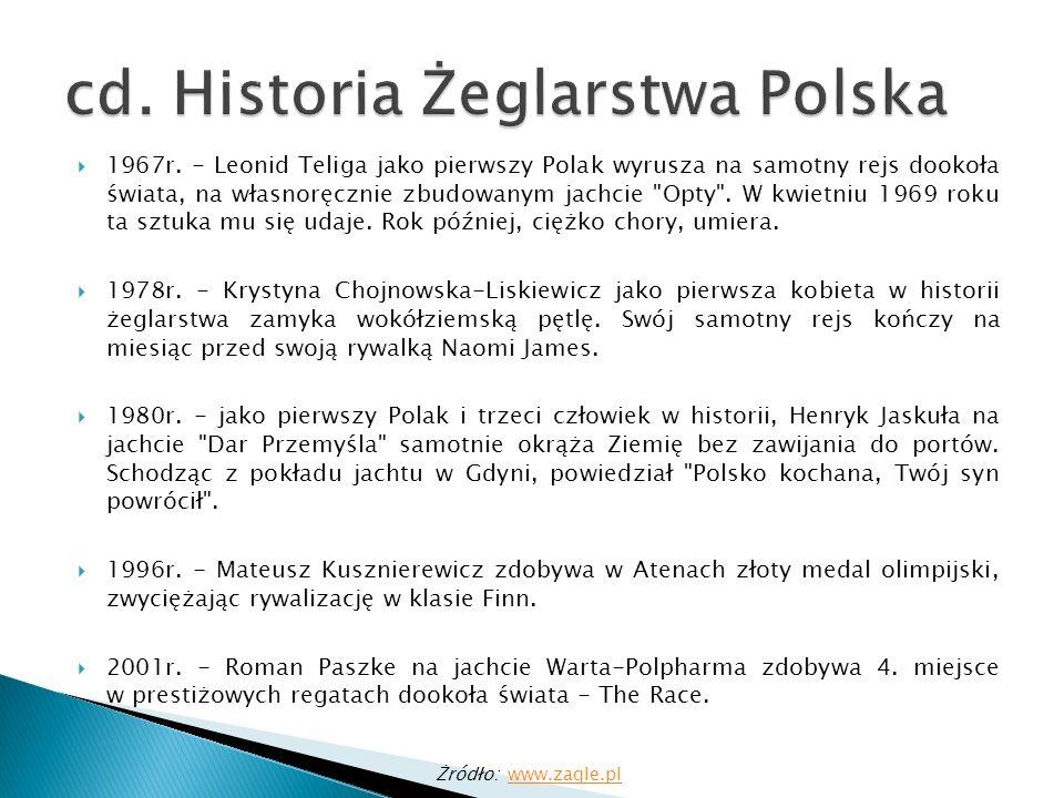 Wyposażenie dodatkowe jachtu: Syrena okrętowa Rakiety, flary czerwonego koloru do wzywania pomocy Gwizdek, lusterko Radio (sygnał S.O.S.) częstotliwość alarmowa: 500kHz Płótna, flagi Źródło: http://www.ktz.pttk.pl/