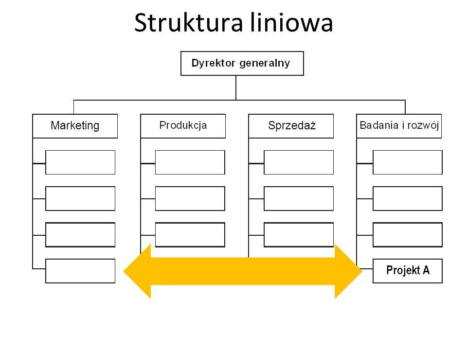 Struktura liniowa MarketingSprzedaż Projekt A