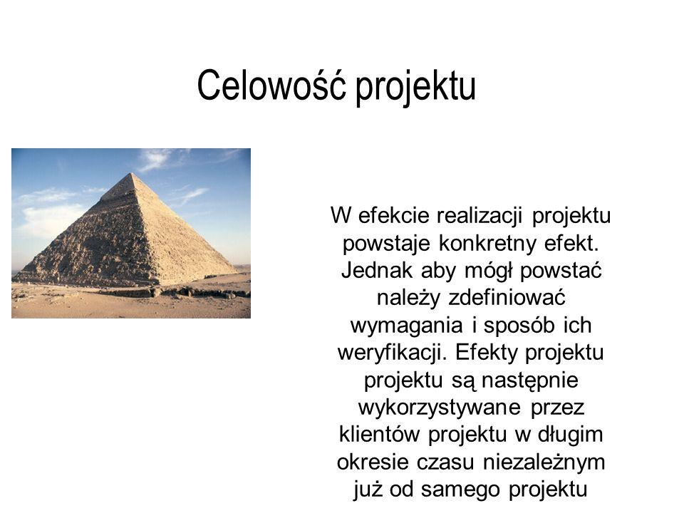 Celowość projektu W efekcie realizacji projektu powstaje konkretny efekt.