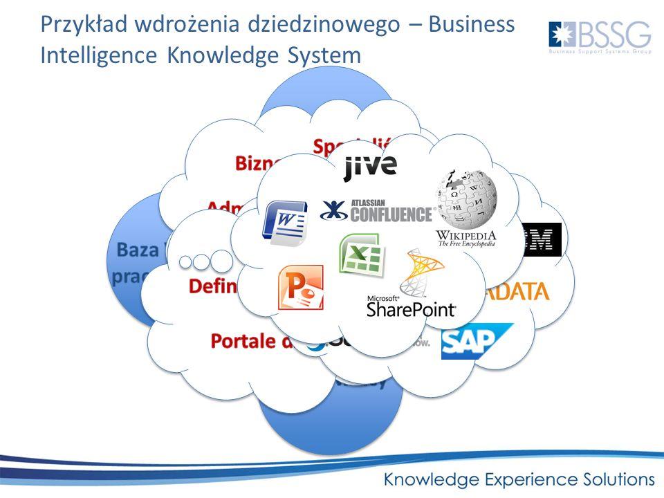 Przykład wdrożenia dziedzinowego – Business Intelligence Knowledge System