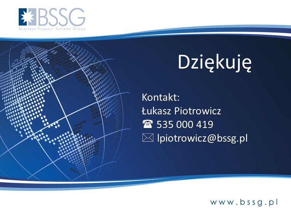 Kontakt: Łukasz Piotrowicz 535 000 419 535 000 419 lpiotrowicz@bssg.pl lpiotrowicz@bssg.pl