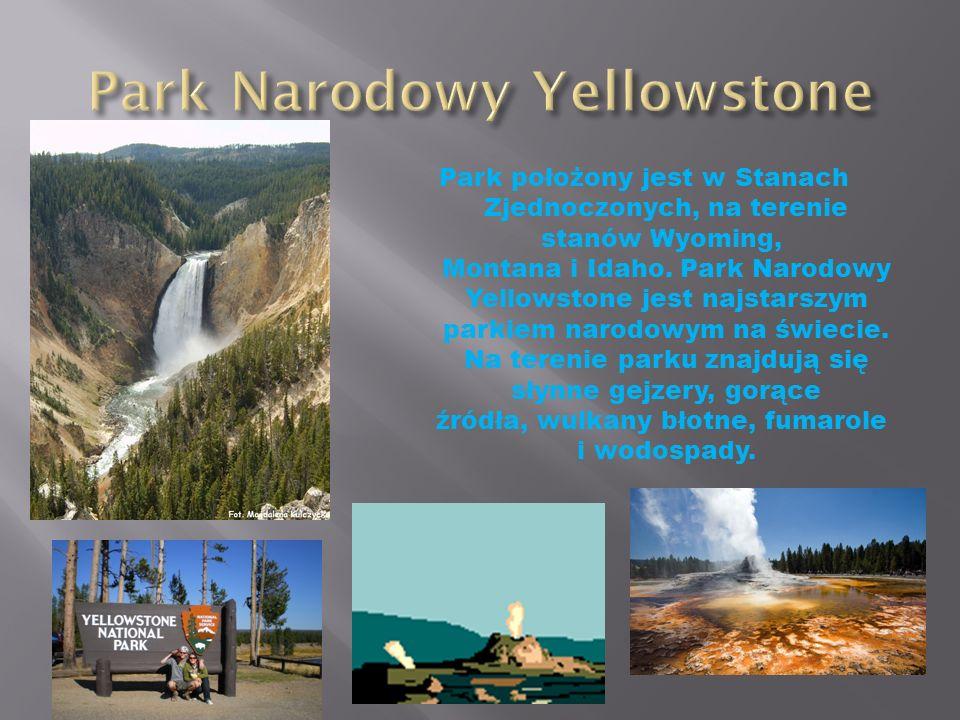 Park położony jest w Stanach Zjednoczonych, na terenie stanów Wyoming, Montana i Idaho. Park Narodowy Yellowstone jest najstarszym parkiem narodowym n