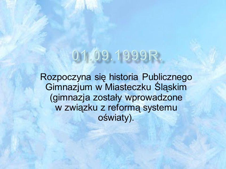 Rada Miejska w Miasteczku Śląskim podjęła uchwałę w sprawie utworzenia Publicznego Gimnazjum w Miasteczku Śląskim z siedzibą przy ul.