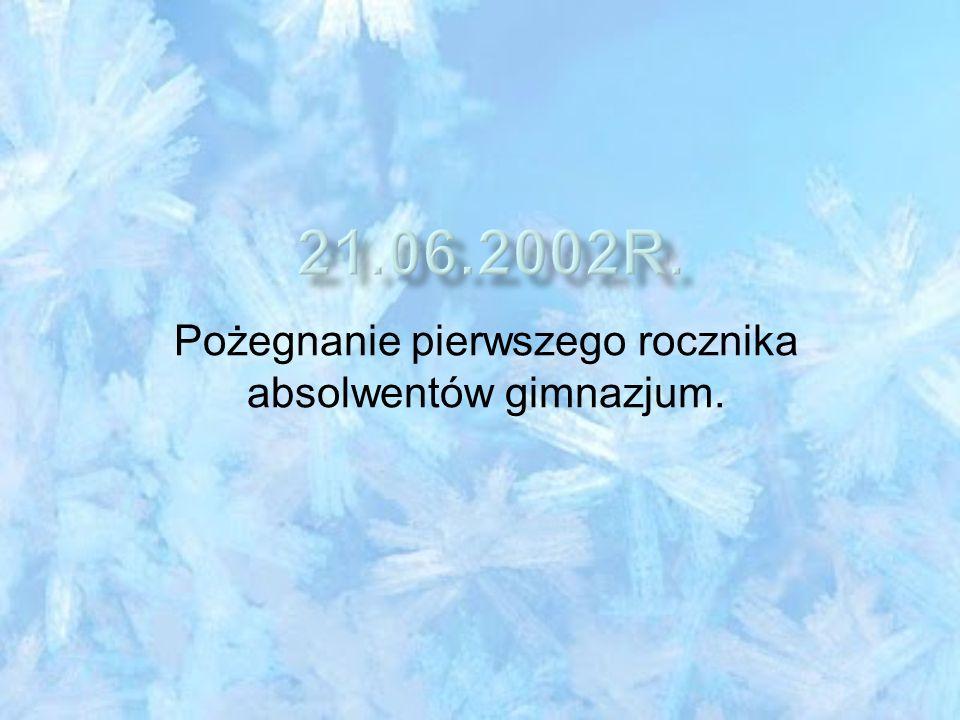 Nadanie Publicznemu Gimnazjum w Miasteczku Śląskim imienia ks. Teodora Christopha.
