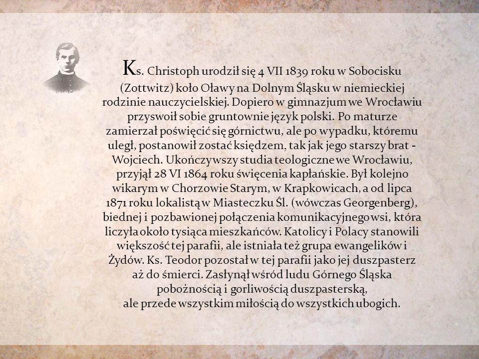 Uroczystość w szkole – nadanie imienia ks. Teodora Christopha.