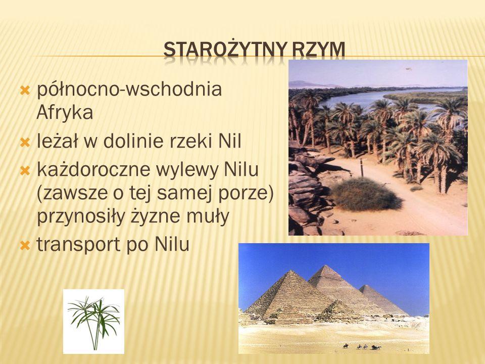 politeizm – wiara w wielu bogów przedstawiali ich jako postacie o ludzkim ciele ze zwierzęcą głową Re - najważniejsze bóstwo Egiptu - bóg Słońca i stwórca świata Ozyrys - bóstwo płodnej natury i świata zmarłych Horus - bóstwo niebios i opiekun faraonów Izyda - bogini magii, żona Ozyrysa Tot - bóg prawdy i sprawiedliwości