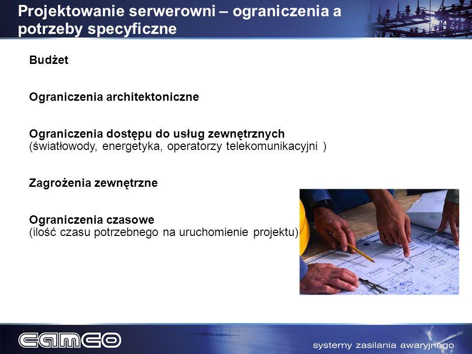 Budżet Ograniczenia architektoniczne Ograniczenia dostępu do usług zewnętrznych (światłowody, energetyka, operatorzy telekomunikacyjni ) Zagrożenia ze