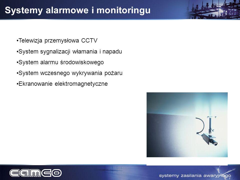 Systemy alarmowe i monitoringu Telewizja przemysłowa CCTV System sygnalizacji włamania i napadu System alarmu środowiskowego System wczesnego wykrywan