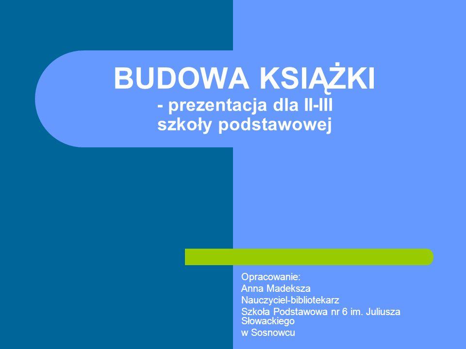 10.04.2008Budowa książki SPIS TREŚCI to zestawienie tytułów różnego szczebla, ujęte w postaci oddzielnego wykazu.