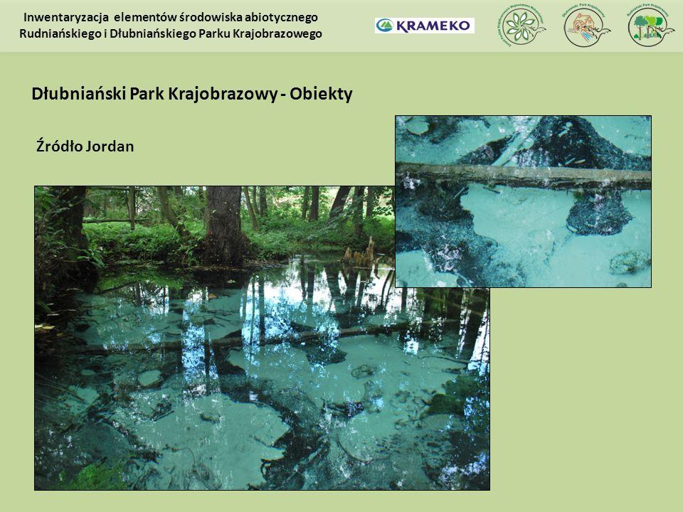 Źródło Jordan Inwentaryzacja elementów środowiska abiotycznego Rudniańskiego i Dłubniańskiego Parku Krajobrazowego Dłubniański Park Krajobrazowy - Obi